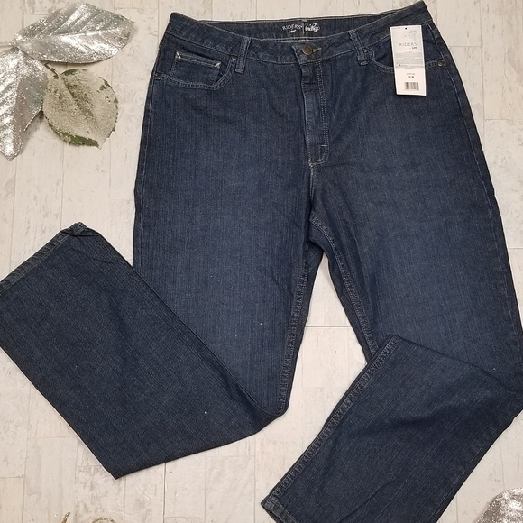 Lee Denim - NEW Lee Riders Indigo Jeans. Size 16 M.